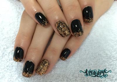 Zlato - černa kombinace