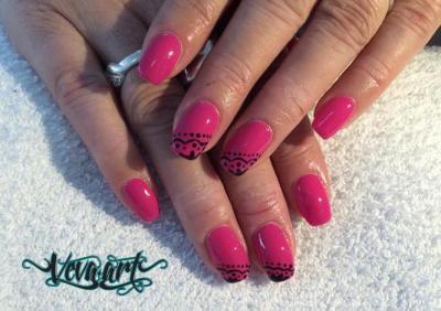 Růžová krajka