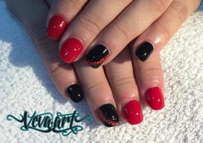 Kombinace černé a červené